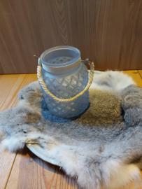 Glas lantaarn met touw