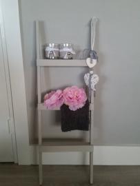 Decoratie trapje zijde grijs 90x30