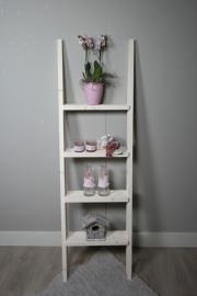 Steigerhouten decoratie ladder 170 x50  white wash beits