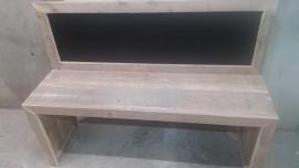 bouwpakket speeltafel gebruikt steigerhout met krijtbord 150x110x40 ZONDER STOELTJES