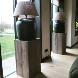 Zuil 80x42x42 taupe