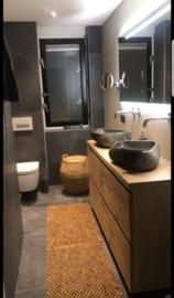 eiken meubel staand 140cm met 4 lades
