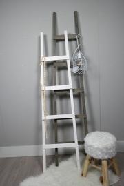 Fruit ladder 170x40 taupe en fruit ladder 150x40 wit
