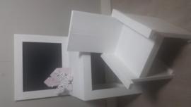 speeltafel 60x110x40  met krijtbord wit met stoel