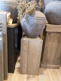 Steigerhouten zuil taupe 60x30x30