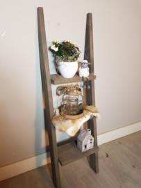 decoratie ladder 130x40x16 taupe