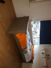 steigerhouten bed 200x90 taupe 250euro