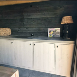 Steigerhouten meubel incl betonnen werkblad
