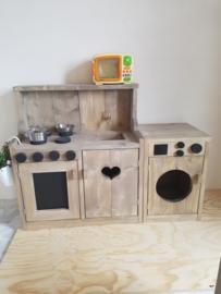 keukentje en wasmachine