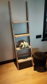 Decoratie ladder 150x40x16 vintage wash