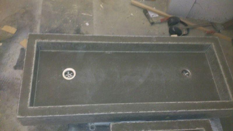 Betonnen spoelbak diverse modellen mogelijk in antraciet of beton kleur