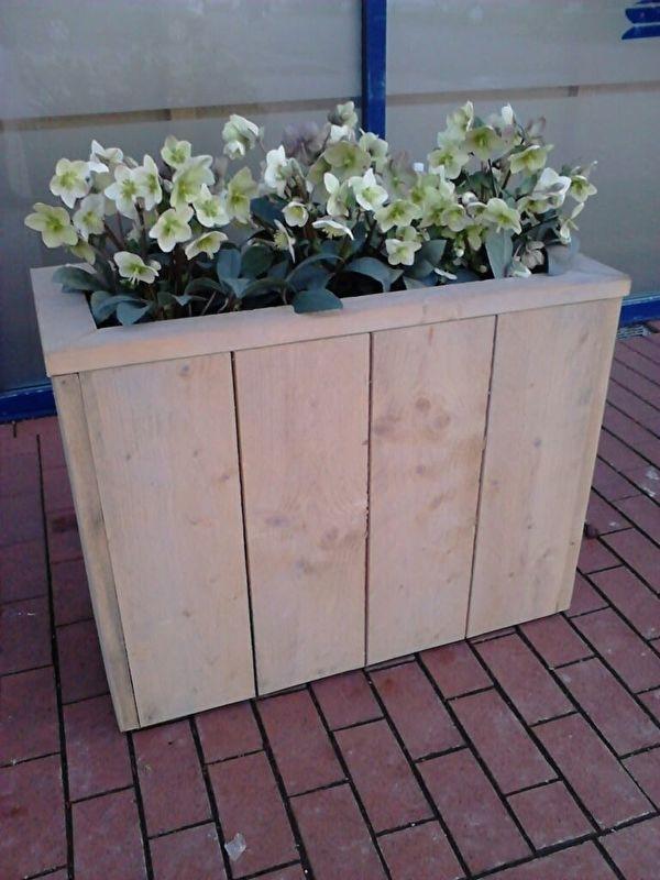 bloembak langwerpig 75x35x60