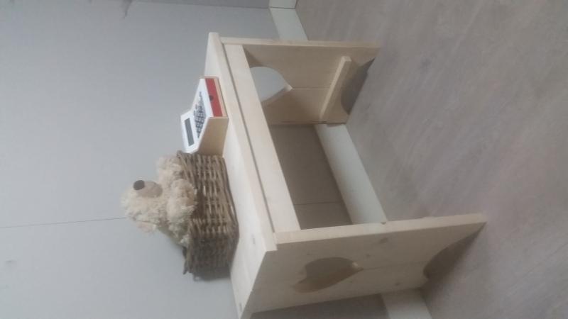 kinder tafel met hart 80x60x40 onbehandeld