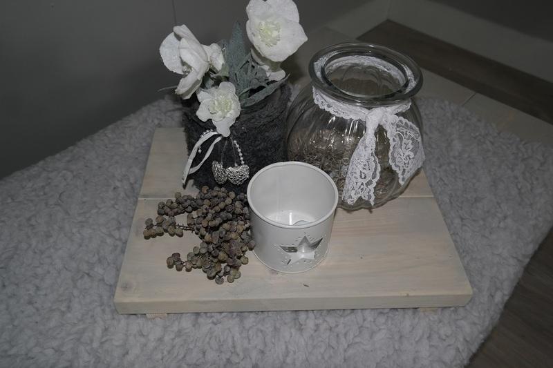 steigerhouten dienblad grijslok beits 30x40