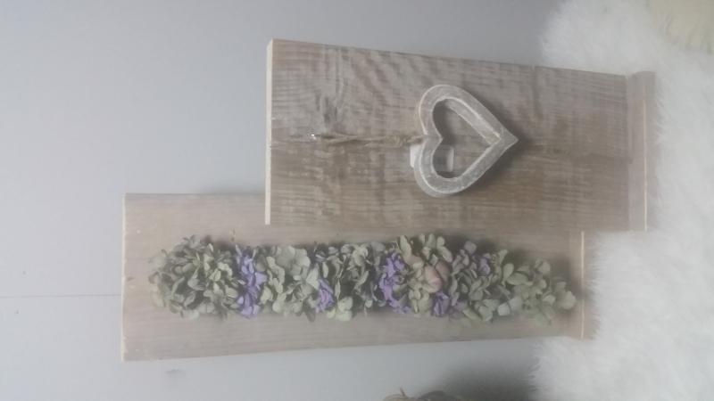 decoratie bord combinatie 45x20 en 60x20 gebruikt steigerhout