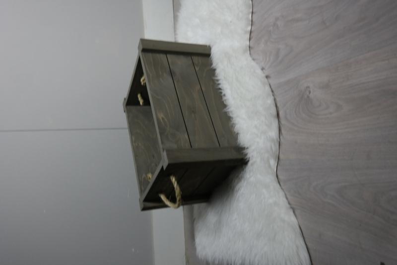 houten kist 50x35x30 taupe