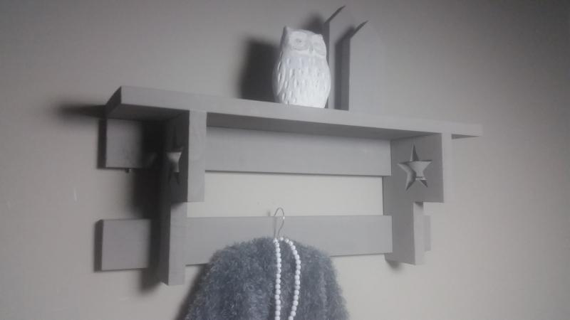 regaal grijs met ster 80cm
