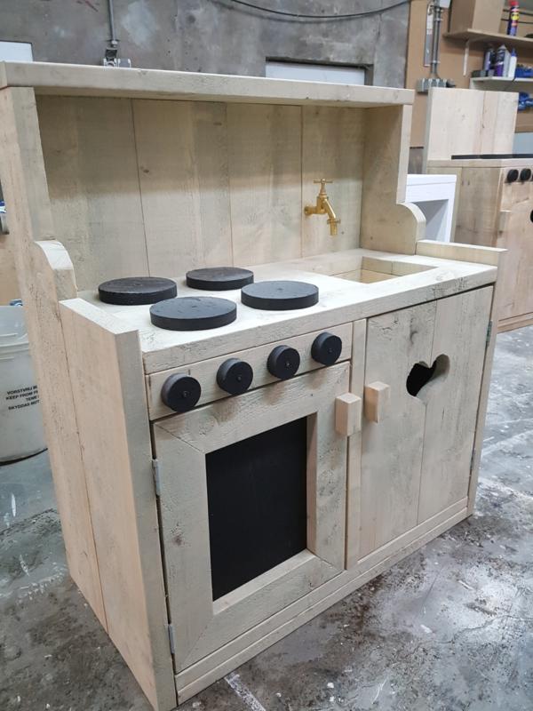 keukentje 80x90x40 grijslook beits