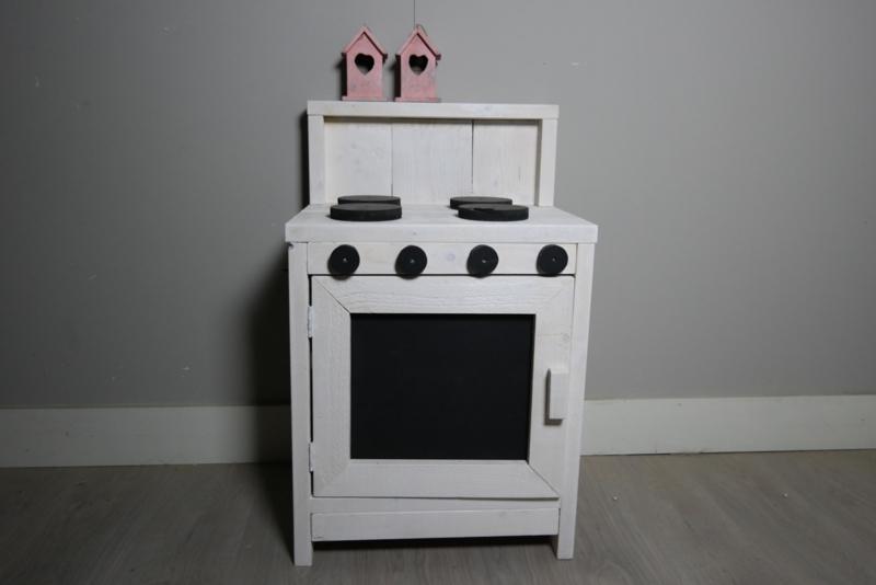keukentje wit 4 pits.