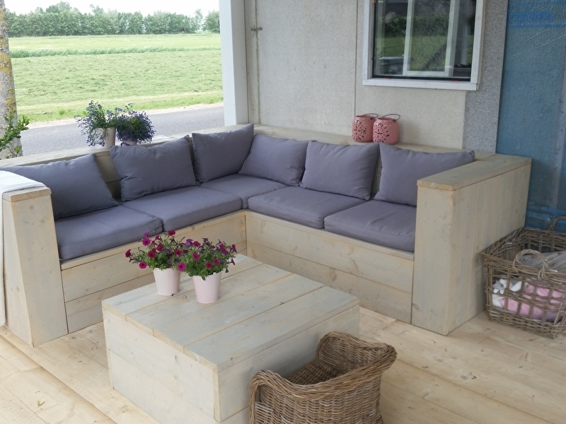 Lounge Tuin Hoekbank.Hoekbank Op Maat Gemaakt Naar De Ikea Lounge Kussens