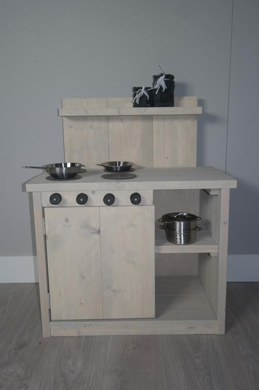 kinder keukentje in de grijlook beits 60x90