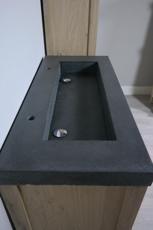 antraciet spoelbak beton 120x45