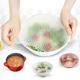 Durable reusable silicone food cover foil 30*30 cm