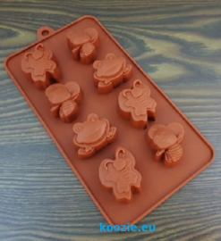 Silicone mold frog butterflies insects