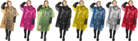 2 x emergency poncho. mixed colors | one size | disposable