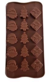 Weihnachtsform Weihnachtsmann - Paket - Baum