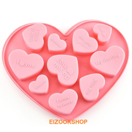 Mold Shape Heart Pink