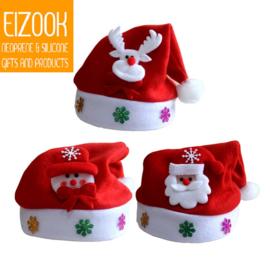 Kerstmuts sneeuwman - sneeuwpop - rendier - ledverlichting