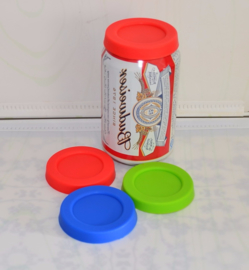2 Silicone lids for beer soda cans