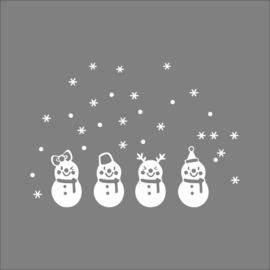 sneeuwpoppen raam - deur -muur decoratie sticker
