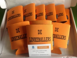 6 Canholder - koozie with 1 color text or logo imprint