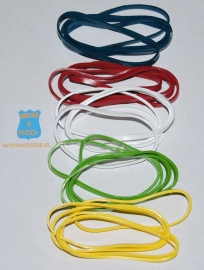 25 Silicone bands cooking baking freezing  - 5 colors