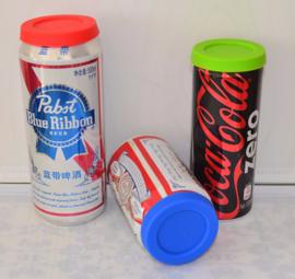 2 Silikondeckel für Bier-Getränkedosen