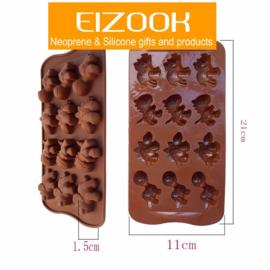 Dinosaurus vorm voor ijs chocolade fondant