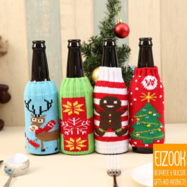 Kerst bierfles koel houders