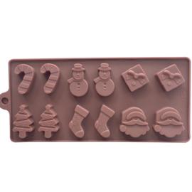 Silikon-Weihnachtsschokoladen-Fondantform