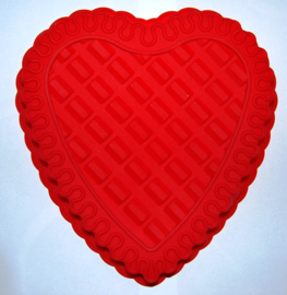 Silicone heart shape cake mold
