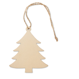 EIZOOK Set van 3 houten kerstboomhangers