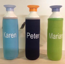 Koelhoud hoes voor uw DOP fles met uw eigen naam of tekst