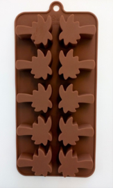 Palm tree Mold - Ice cubes - Chocolate