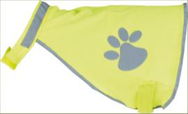 Chaleco reflectante de seguridad para la espalda del perro