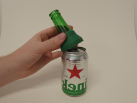 4 Glass Can Caps. Make a premium drinking bottle from your can