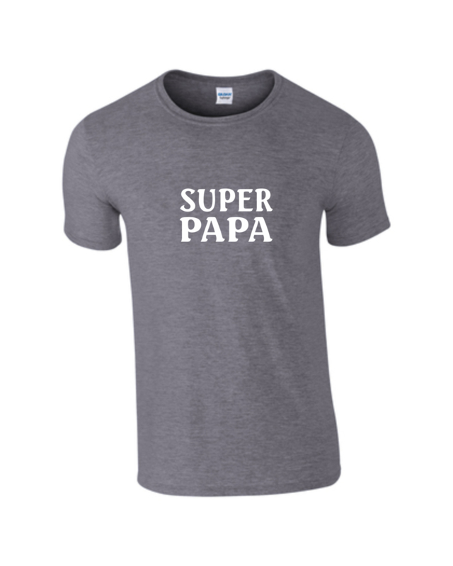 T-Shirt - SUPER PAPA - Geburtstag - Vatertag