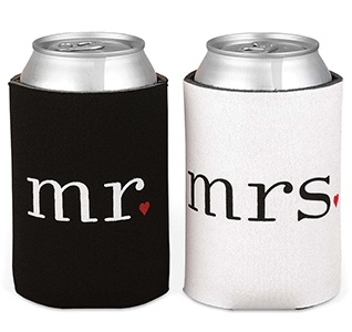 Canholder - koozie with 1 color text or logo imprint