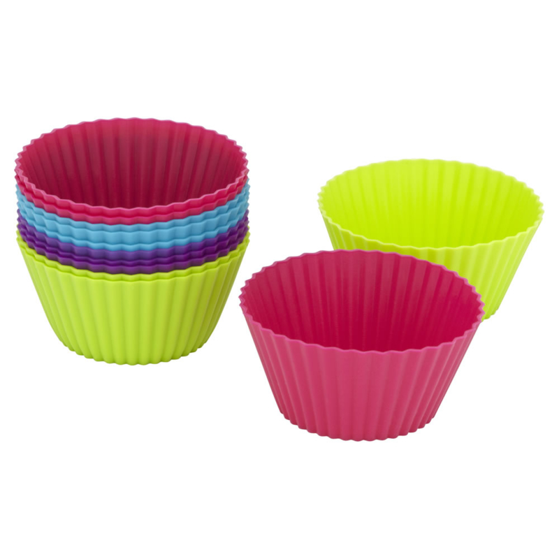 6 Silicone mini Cup Cake moulds