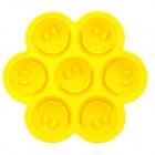 Smiley face cake icecube mold Yellow
